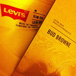 Bud Browne with Levi's